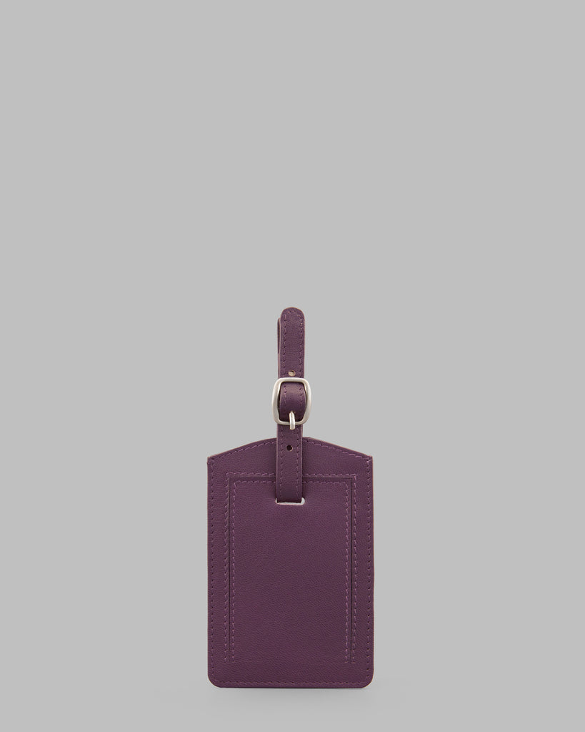 Purple Leather Luggage Tag - Purple - Y by Yoshi