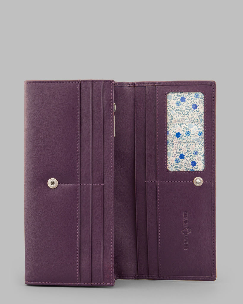 Purple Leather Matinee Purse - Purple - Y by Yoshi