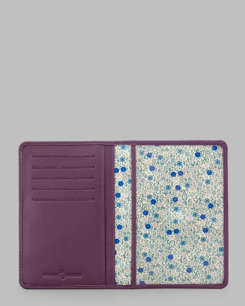 Purple Leather Passport Cover -  - Y by Yoshi