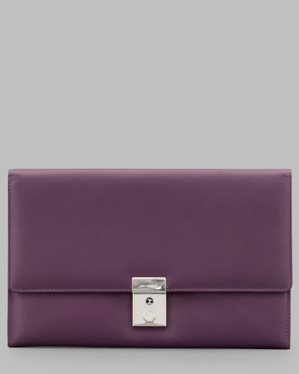 Y by Yoshi Purple Leather Travel Document Holder A