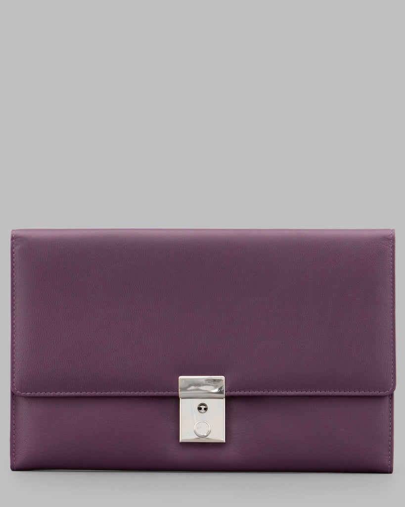 Purple Leather Travel Document Holder - Purple - Y by Yoshi
