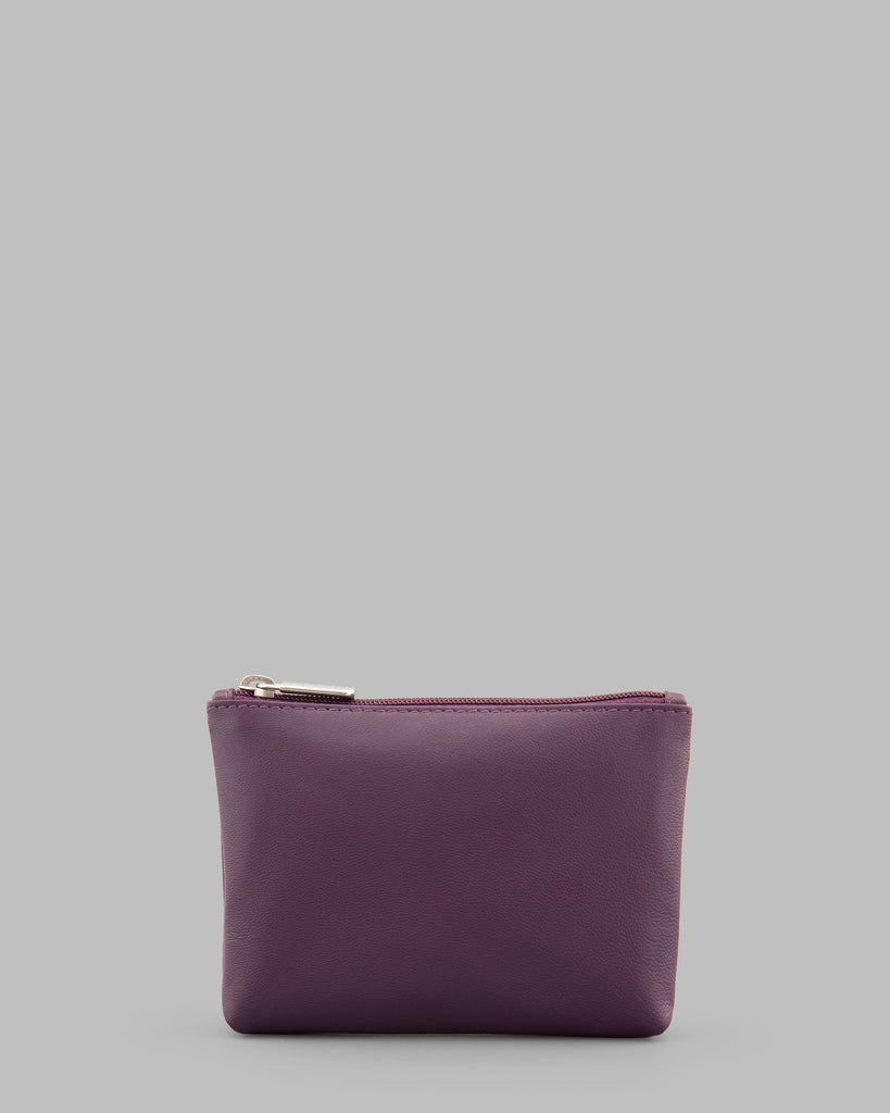 Purple Leather Zip Top Purse - Purple - Y by Yoshi