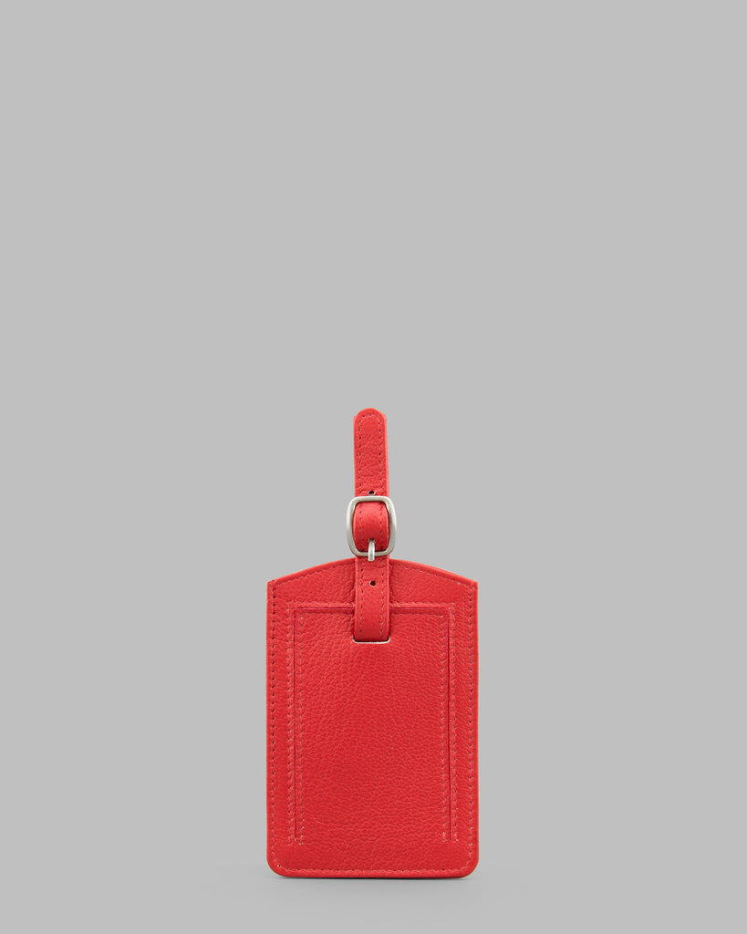 Red Leather Luggage Tag -  - Y by Yoshi