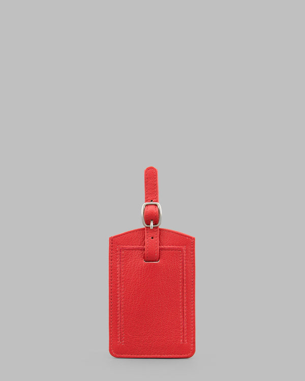 Y by Yoshi Red Leather Luggage Tag A