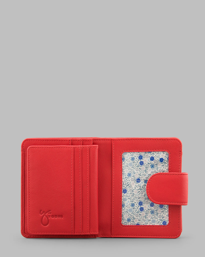 Medium Zip Around Red Leather Purse - Red - Y by Yoshi