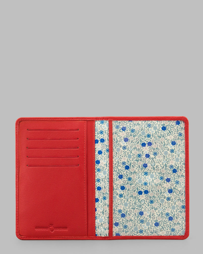 Red Leather Passport Cover -  - Y by Yoshi