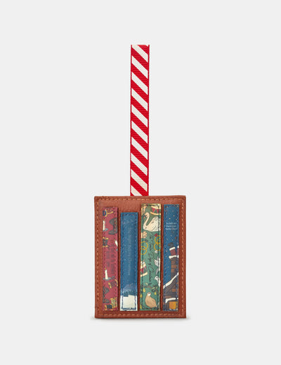 Christmas Bookworm Tan Leather Tree Decoration - Yoshi