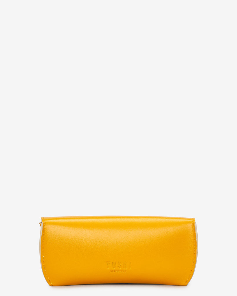 Mustard Yellow Leather Glasses Case -  - Yoshi
