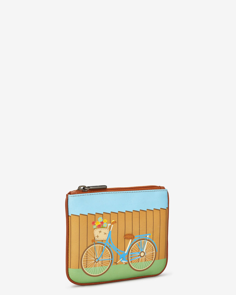 Bicycle Zip Top Leather Purse - Yoshi