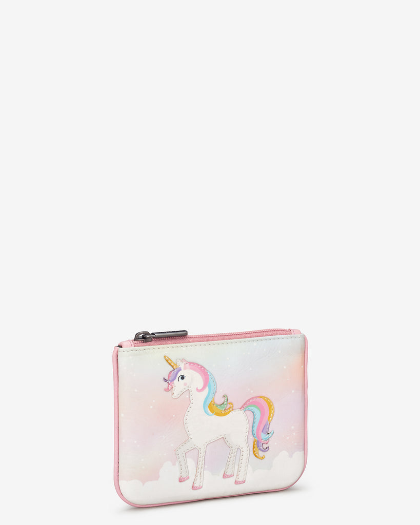 Ophelia The Unicorn Zip Top Leather Purse - Yoshi
