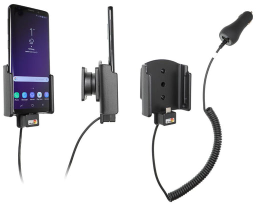 712038 Brodit Active holder with cig-plug for Samsung Galaxy S9