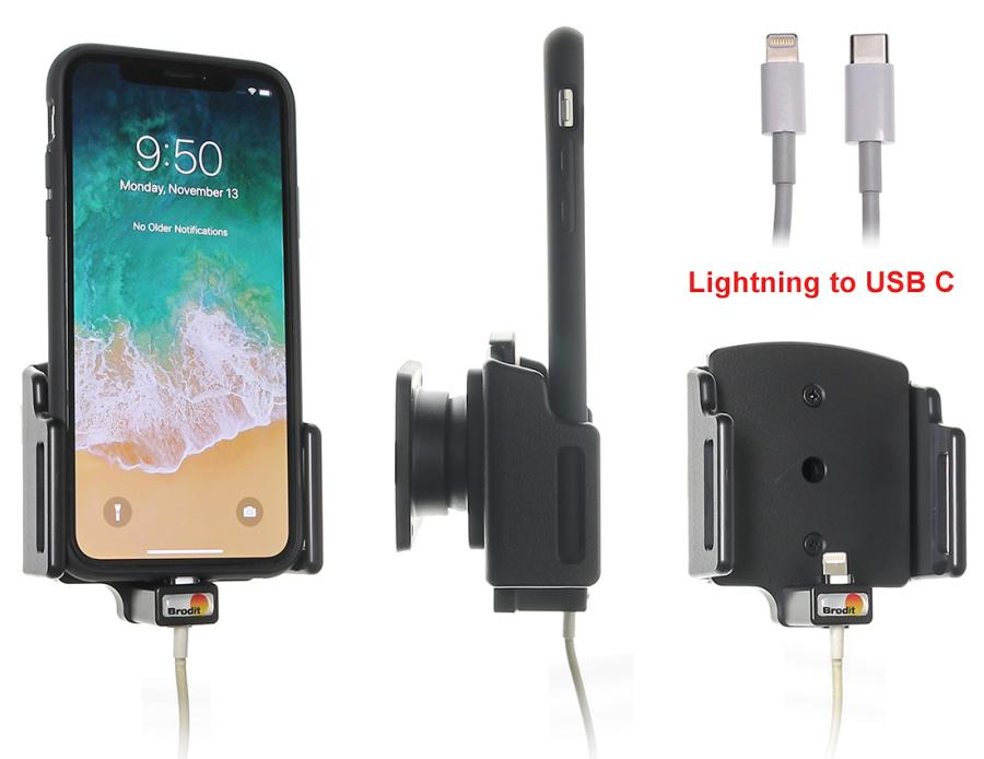 716013 Brodit Holder for Cable Attachment for Apple iPhone 11
