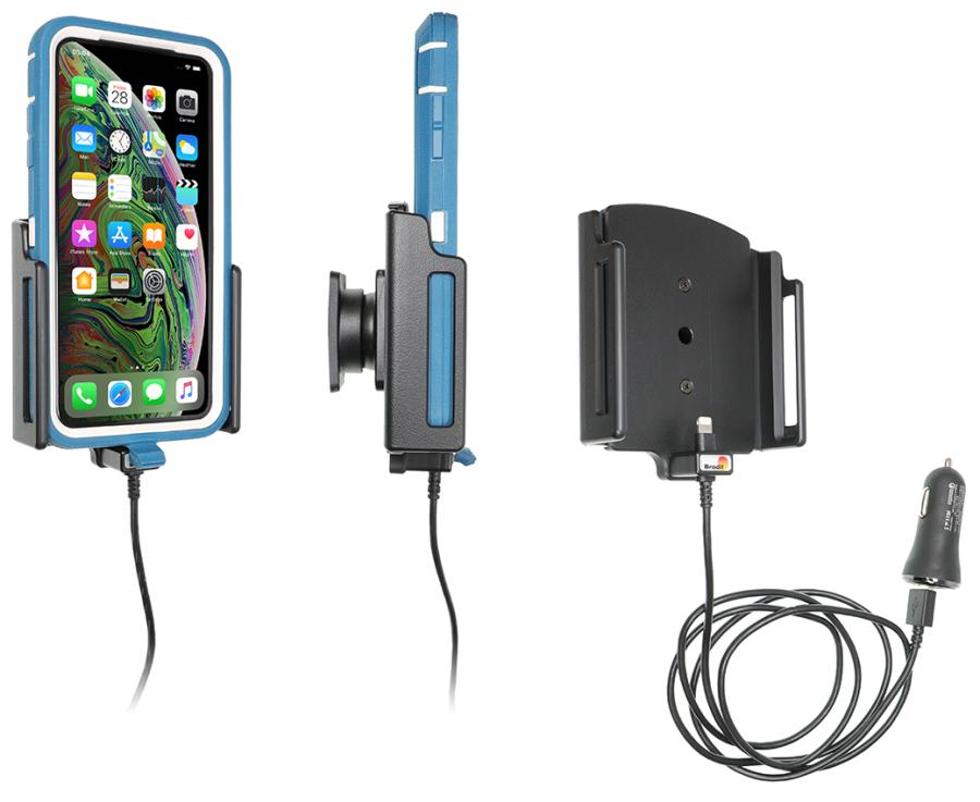 721084 Brodit Active holder with cig-plug for Apple iPhone Pro Max