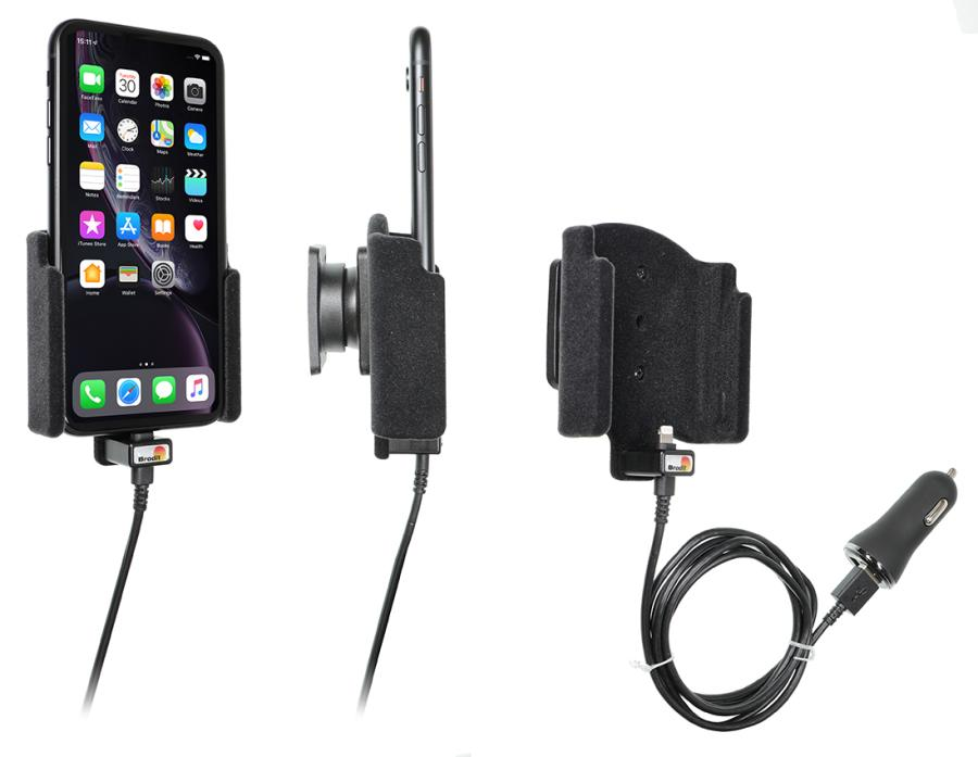 721090 Brodit Active holder with cig-plug for Apple iPhone 11