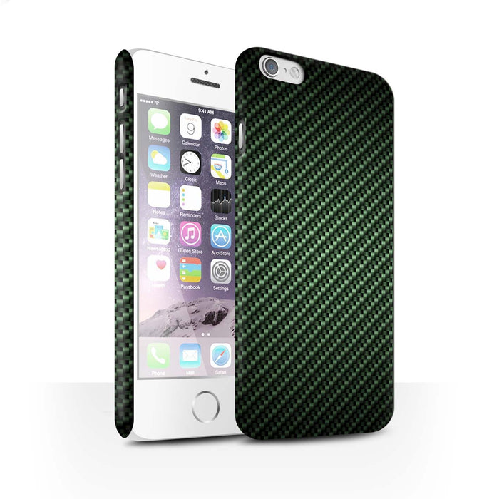 Protective Hard Back Case for Apple iPhone 6 / Carbon Fibre Effect