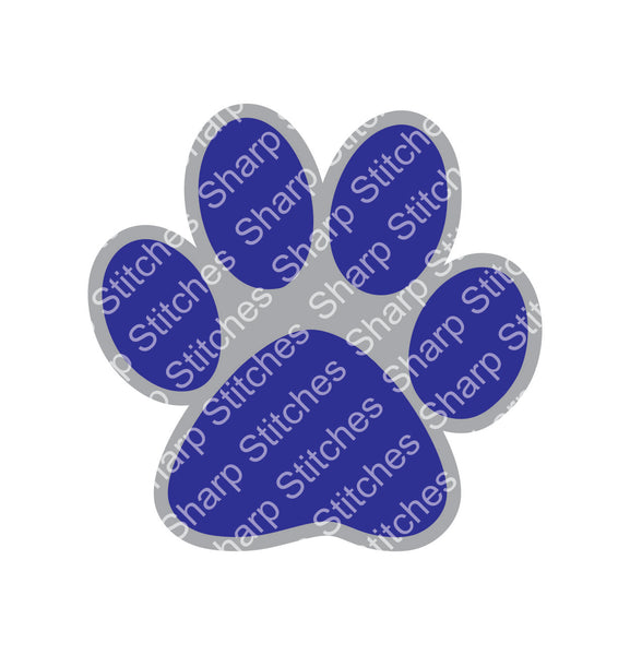 "Set of 5 - 3"" Dog Paw Print Acrylic Blanks With or Without Keychain Hole"
