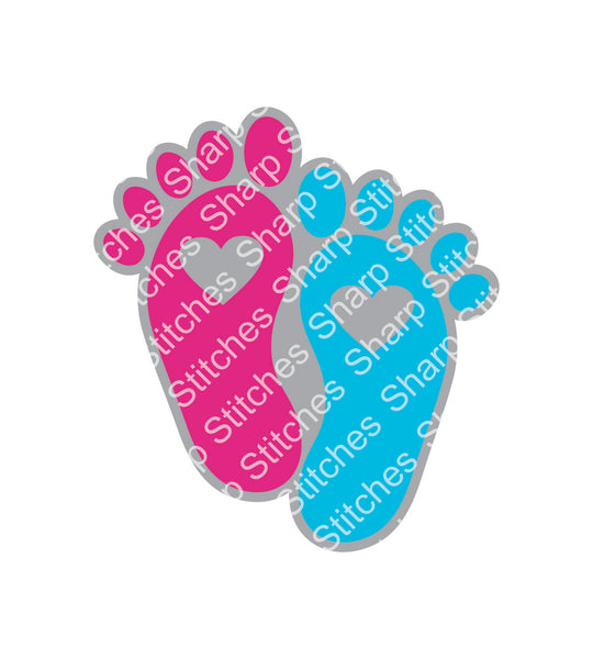 "Set of 5 - 3"" Baby Newborn Feet Acrylic Blanks With or Without Keychain Hole"