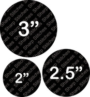 "Set of 5 - Circle Round Acrylic Blanks With or Without Keychain Hole 2"", 2.5"" or 3"""