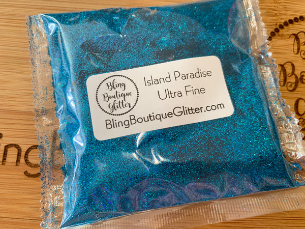 Bright Blue Holographic Ultra Fine Glitter - Island Paradise