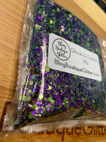 Purple and Green Chunky Mix Glitter - Ghouls and Goblins