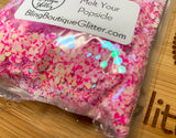 Pink Chunky Mix Color Shifting Iridescent Glitter - Melt Your Popsicle