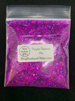 Purple Chunky Mix Holographic Glitter - Purple Passion Mix