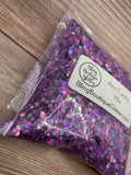 Purple Holographic Chunky Mix Glitter - Arm Candy Chunky Mix