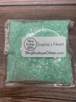 Mint Green Iridescent Chunky Mix Tinsel Glitter - Sophia's Heart