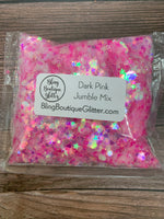 Dark Pink Iridescent Chunky Mix Glitter - Dark Pink Jumble Mix