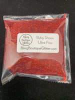 Ultra Fine Red Holographic Glitter - Ruby Shoes