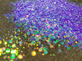 Purple Chunky Mix Iridescent Glitter - Berry Fairy Chunky Mix