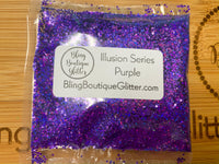 Purple Holographic Stripe Small Chunky Glitter - Illusion Series Purple