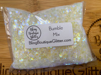 White with Purple Shimmer Mix Glitter - Bumble Mix