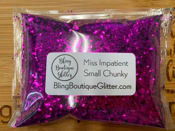 Small Chunky Dark Pink Glitter - Miss Impatient Small Chunky