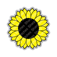 "Set of 5 - 2.5"" Sunflower Acrylic Blanks With or Without Keychain Hole"