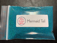 Ultra Fine Teal Blue Holographic Glitter - Mermaid Tail Ultra Fine