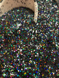 Black Holographic Small Chunky Glitter - Onyx Flash Small Chunky