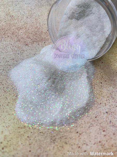 Ultra Fine White Iridescent Glitter - Frost Warning