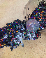 Black Holographic Chunky Glitter - Onyx Flash