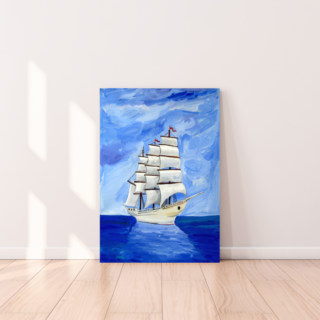 Tableau décoratif: The Blue Ship