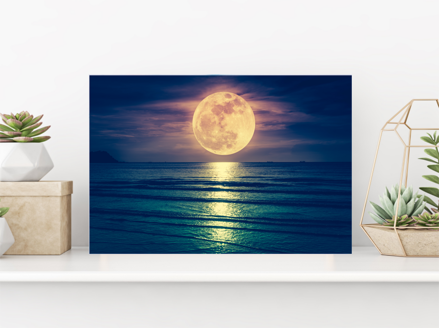 Tableau décoratif : Moonlight at the ocean