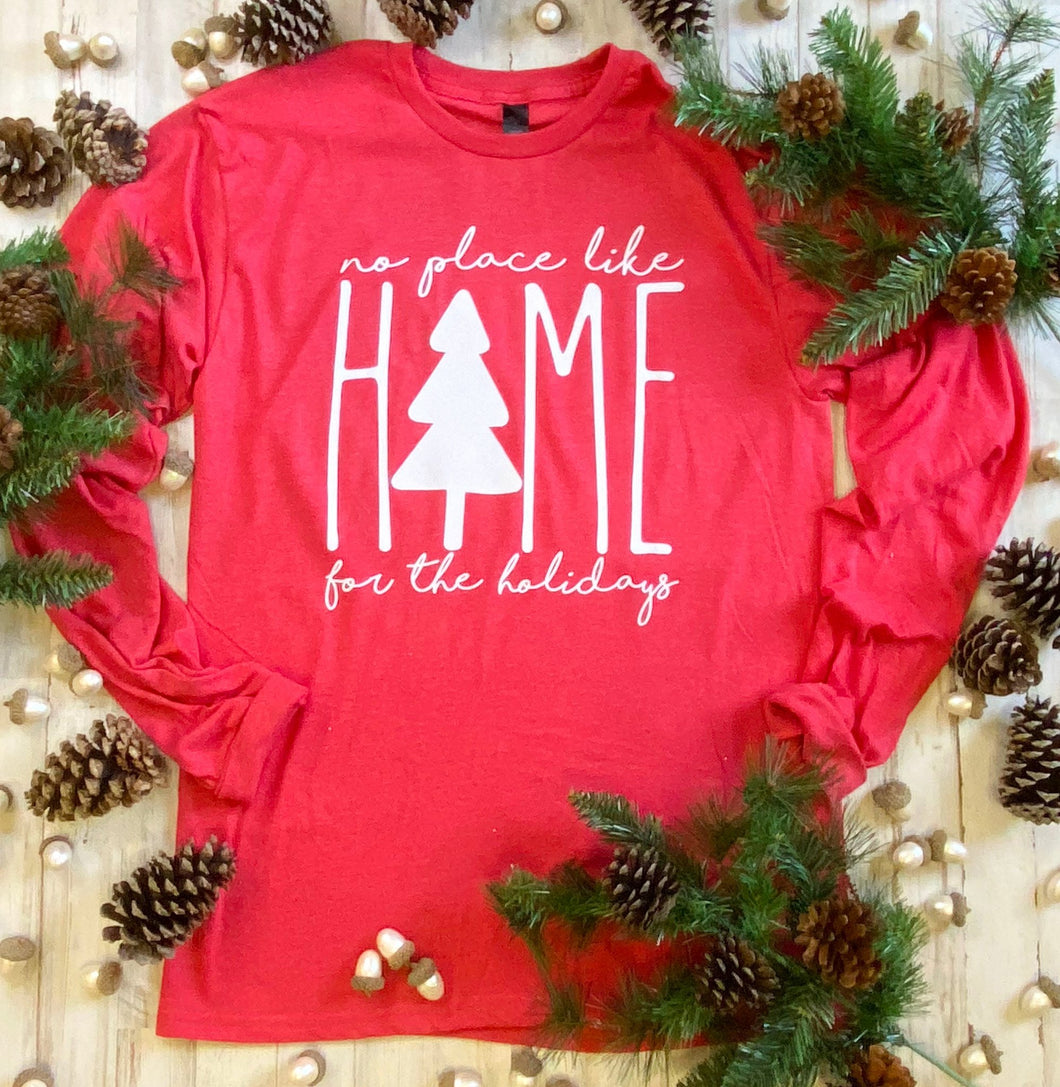 Home for the Holidays Long-Sleeve Graphic T
