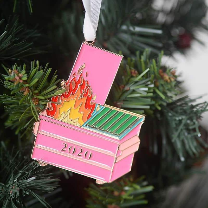 Dumpster Fire Holiday Ornament