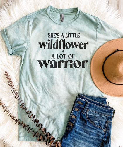 Wildflower + Warrier Distressed Graphic T-Shirt - Bold & Bright Boutique