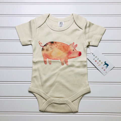What's Shakin' Bacon Pig Organic Onesie - Bold & Bright Boutique