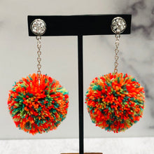 Load image into Gallery viewer, Skinny Pom Dangle Earrings - Multiple Colors
