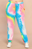 Rainbow Tie-Dye French Terry Joggers - Bold & Bright Boutique