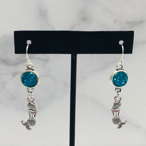 Sparkle Mermaid Dangle Earrings - Multiple Colors - Bold & Bright Boutique