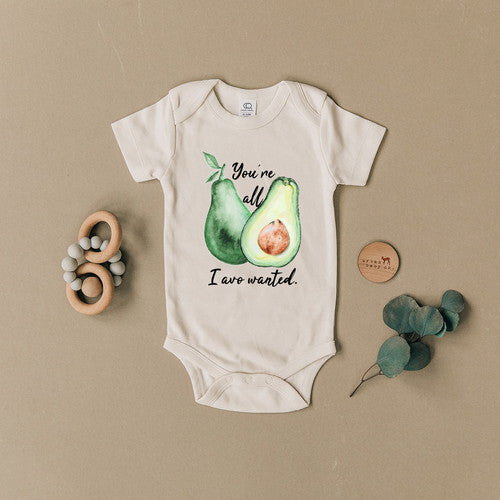 You're All I Avo Wanted Avocado Organic Baby Onesie - Bold & Bright Boutique