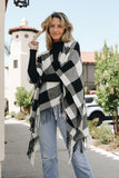 Buffalo Check Tassel Poncho - Bold & Bright Boutique